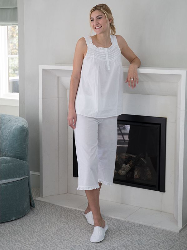 Amanda White Cotton PJ Set** - EL339