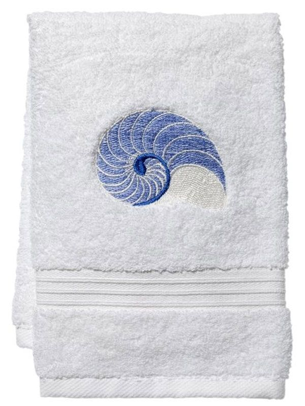 blue nautilus terry towel