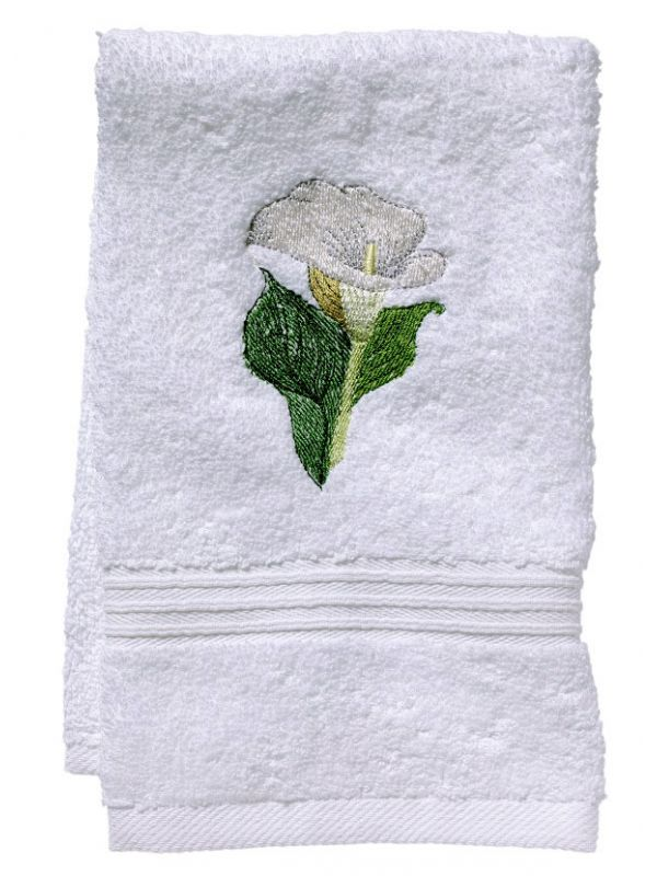 DG70-CALWH Guest Towel, Terry - Calla Lily (White)