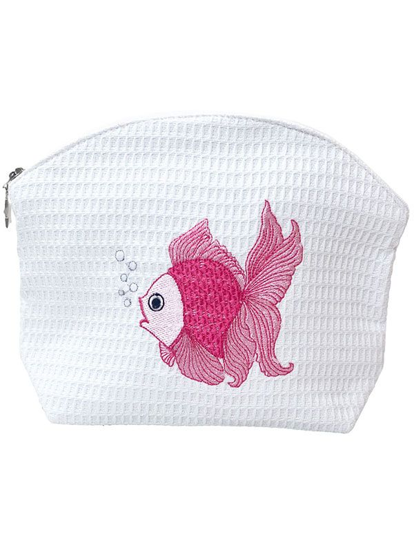 DG07-FTFPK Cosmetic Bag (Large) - Fantail Fish (Pink)