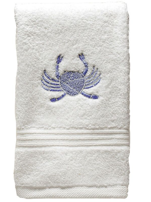 DG70-CRBL Guest Towel, Terry - Crab (Blue)