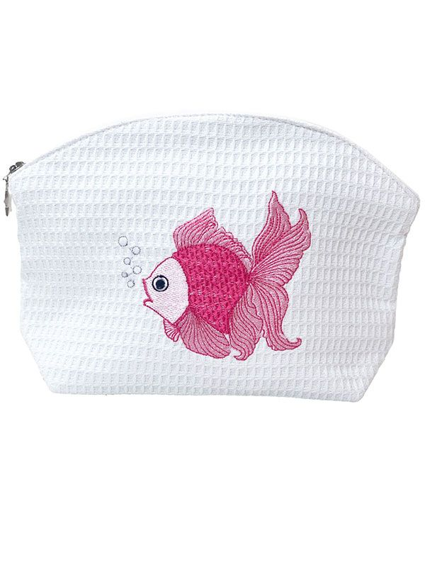 DG01-FTFPK Cosmetic Bag (Medium) - Fantail Fish (Pink)