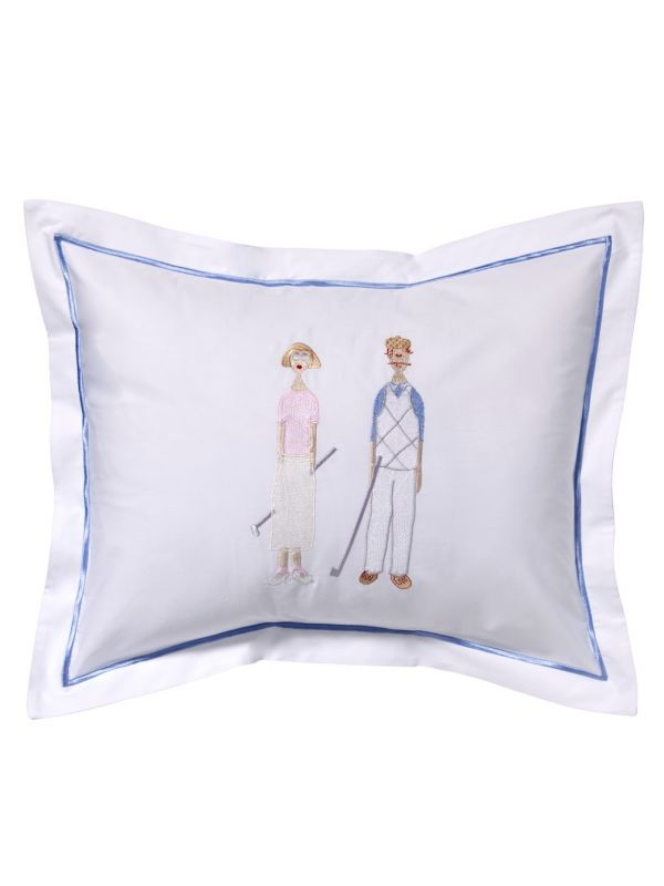 DG78-GC** Boudoir Pillow Cover - Golf Couple