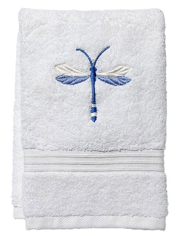 DG70-TDBL Guest Towel, Terry - Twilight Dragonfly (Blue)