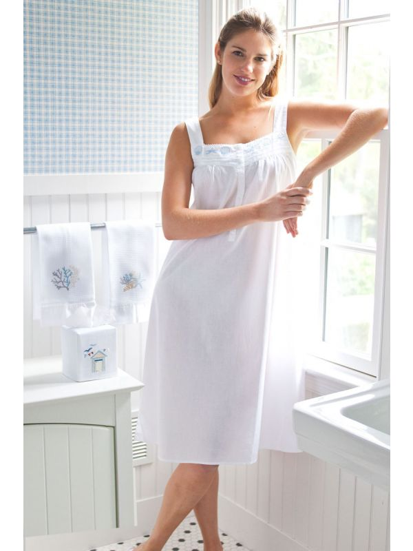 seaside cotton nightgown