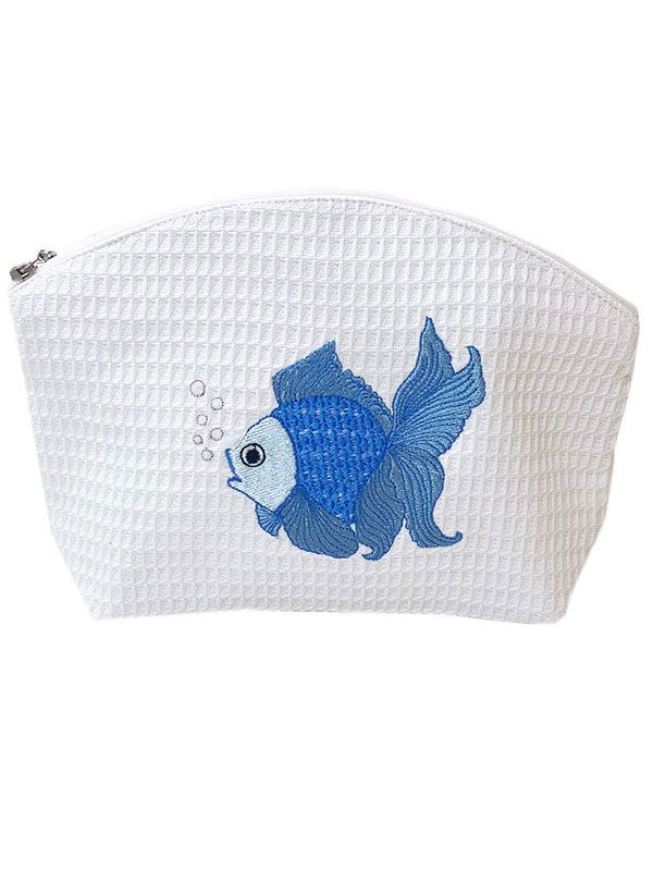 DG01-FTFBL Cosmetic Bag (Medium) - Fantail Fish (Blue)