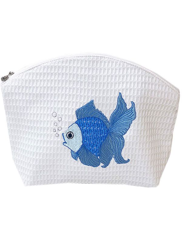 DG07-FTFBL Cosmetic Bag (Large) - Fantail Fish (Blue)