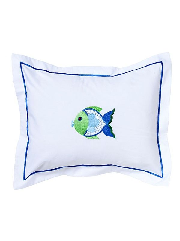 DG81-FFBG Baby Boudoir Pillow Cover - Freddy Fish (Blue, Green)