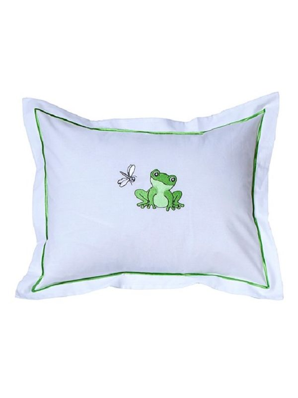DG81-FADF Baby Boudoir Pillow Cover - Frog & Dragonfly (Green)