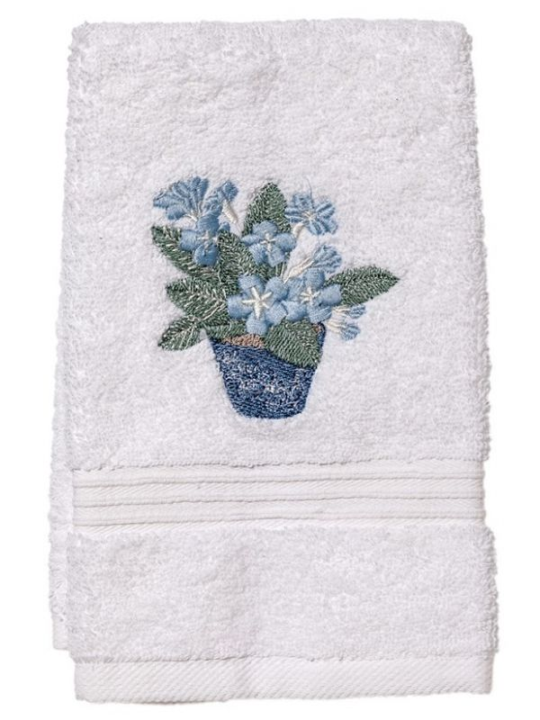 DG70-CPDE** Guest Towel, Terry - Cache Pot (Duck Egg Blue)