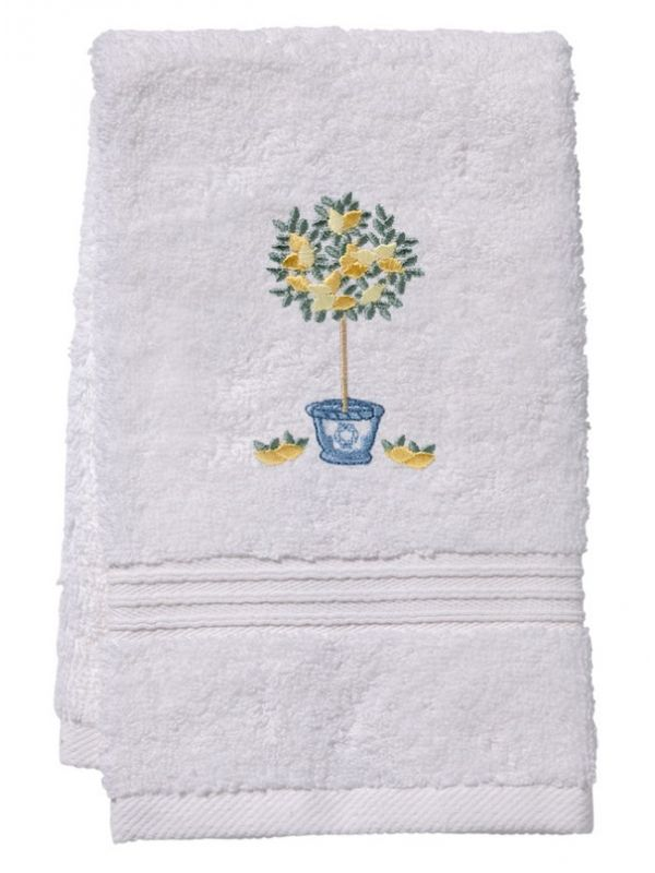 DG70-LTTT** Guest Towel, Terry - Lemon Topiary Tree (Lemon)