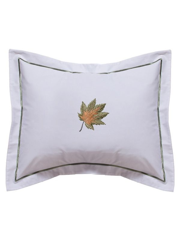 DG78-MLFG** Boudoir Pillow Cover - Maple Leaf (Forest Green)