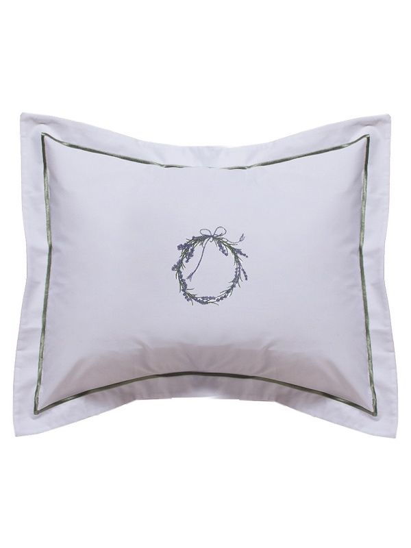 DG78-WRLV** Boudoir Pillow Cover - Wreath (Lavender)