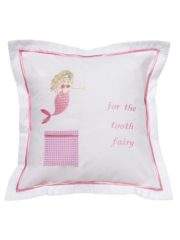 DG131-MMPK Tooth Fairy Pillow Cover - Mermaid (Pink)