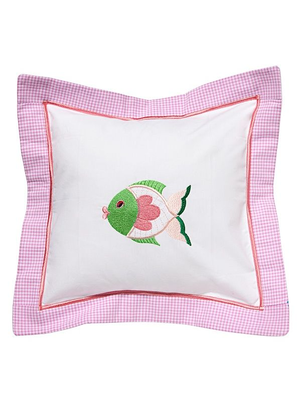 DG136-FFPK Baby Pillow Cover - Freddy Fish (Pink)