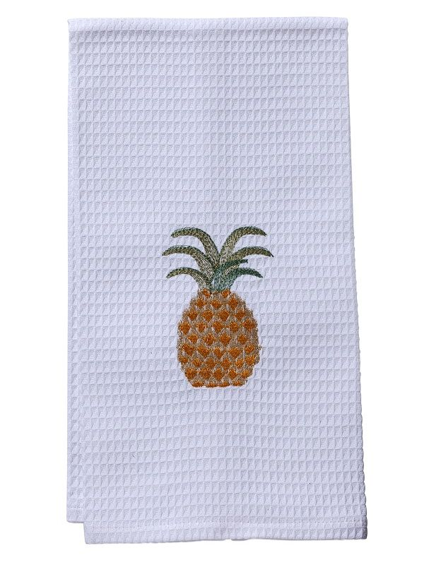 Waffle Weave Guest Towel - Pineapple