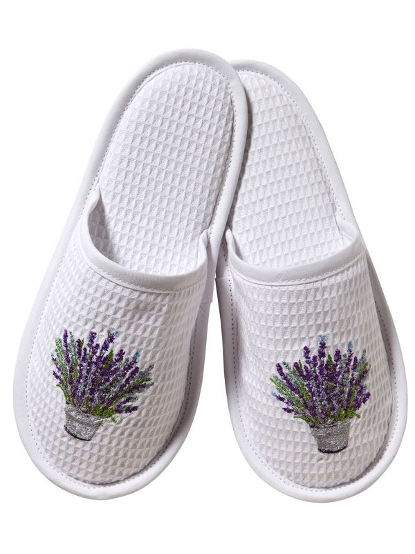 DG05-LBLV Slippers, Waffle Weave - Lavender Bucket (Lavender)