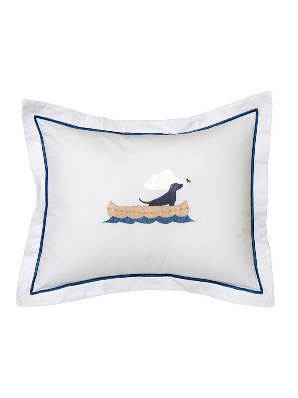 DG78-DIB Boudoir Pillow Cover - Dog in Boat