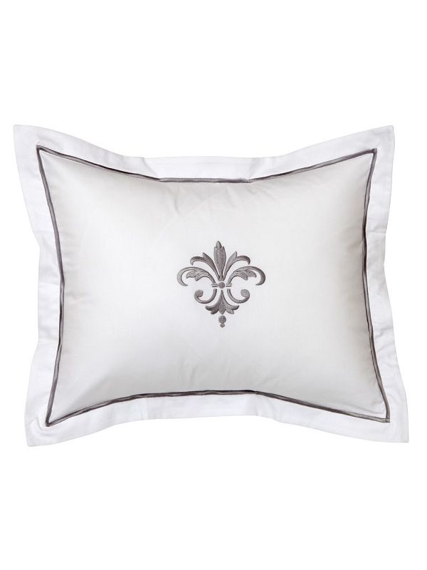 DG78-FDFPW Boudoir Pillow Cover - Fleur de France (Pewter)