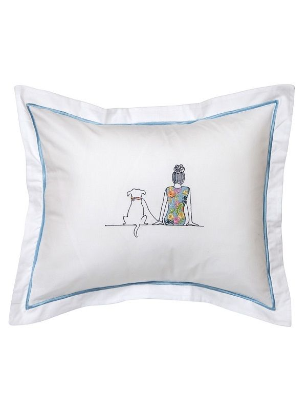 DG78-DAG Boudoir Pillow Cover - Dog & Girl