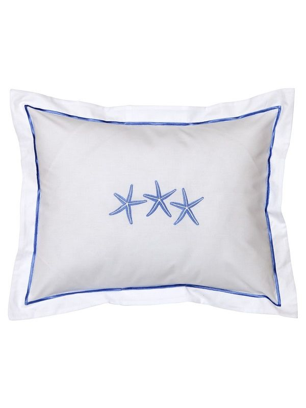 DG78-TSFBL Boudoir Pillow Cover - Three Starfish (Blue)