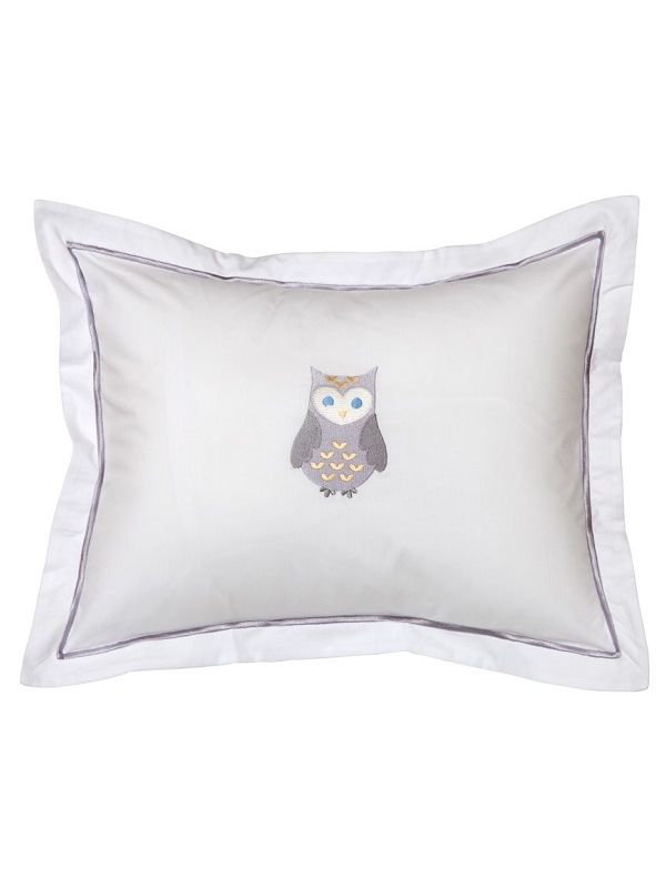 DG81-OPW Baby Boudoir Pillow Cover - Owl (Pewter)