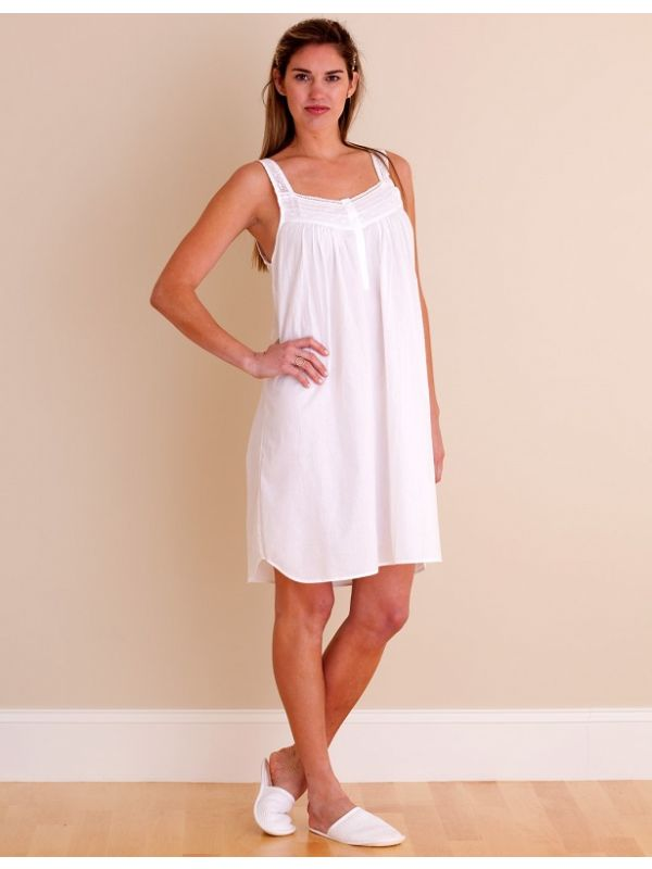 Joy White Cotton Nightgown** - EL227