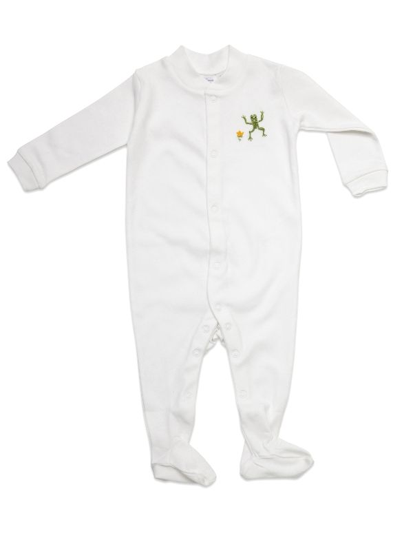 RW20-FRGR Footie, Combed Cotton - Frog (Green)**