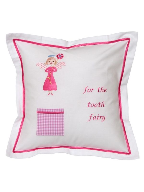 DG131-FA Tooth Fairy Pillow Cover - Flower Angel (Pink)