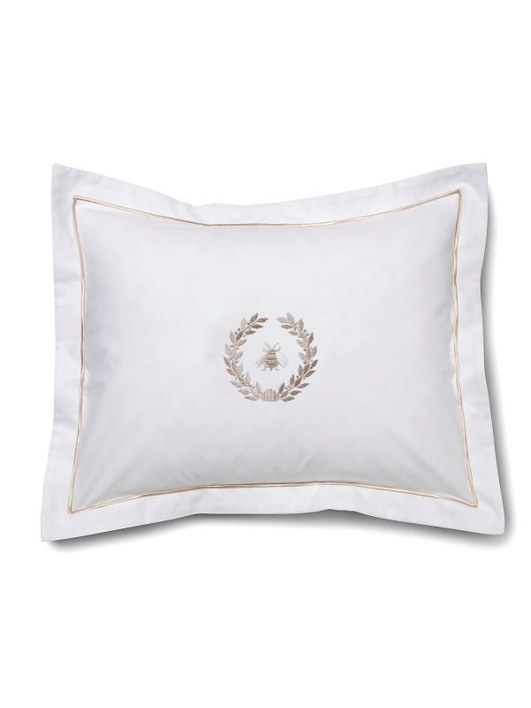 DG78-NBWBE** Boudoir Pillow Cover - Napoleon Bee Wreath (Beige)