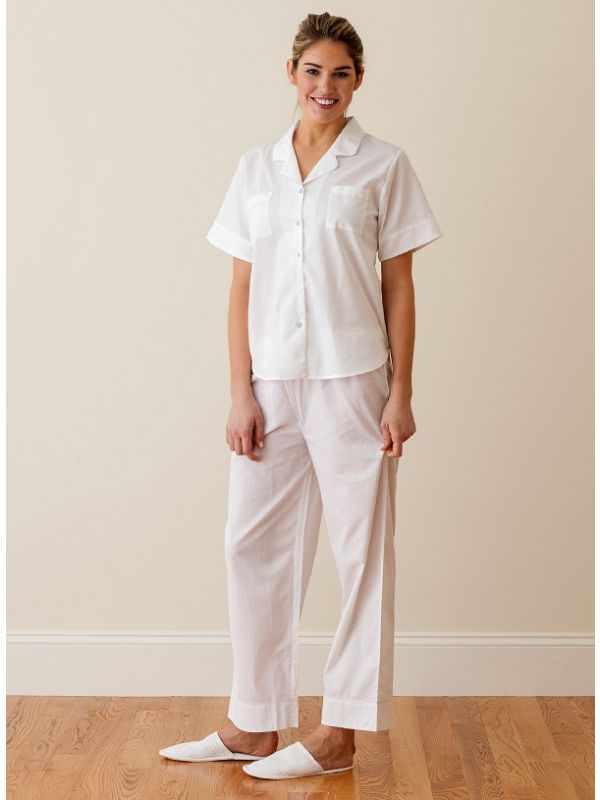 Kelsey White Cotton Pajamas ** - EL296