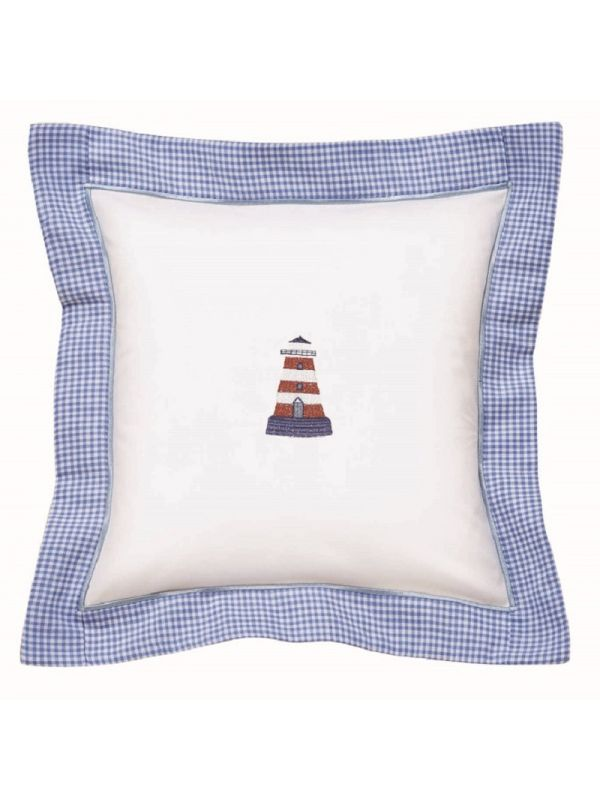 DG136-LHRW Baby Pillow Cover - Lighthouse (Red/White)
