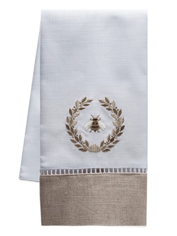 Guest Towel - Combo Linens, Ladder Lace, Embroidered