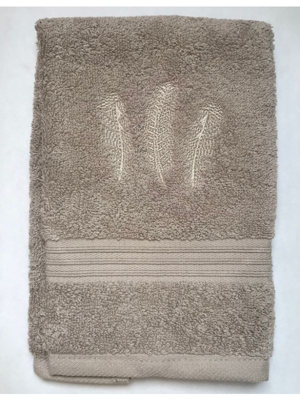 DG71-TFBE Guest Towel, Taupe Terry - Three Feathers (Beige)
