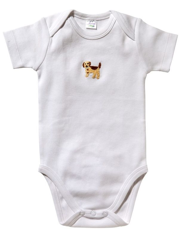 Onesie (Short Sleeve)** - Combed Cotton, Embroidered