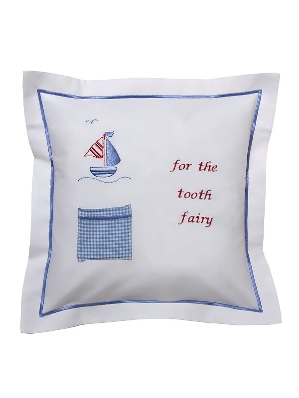 DG131-SASB Tooth Fairy Pillow Cover - Sailboat & Seagull (Blue)