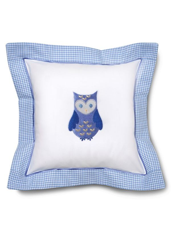 DG136-OB Baby Pillow Cover - Owl (Blue)**