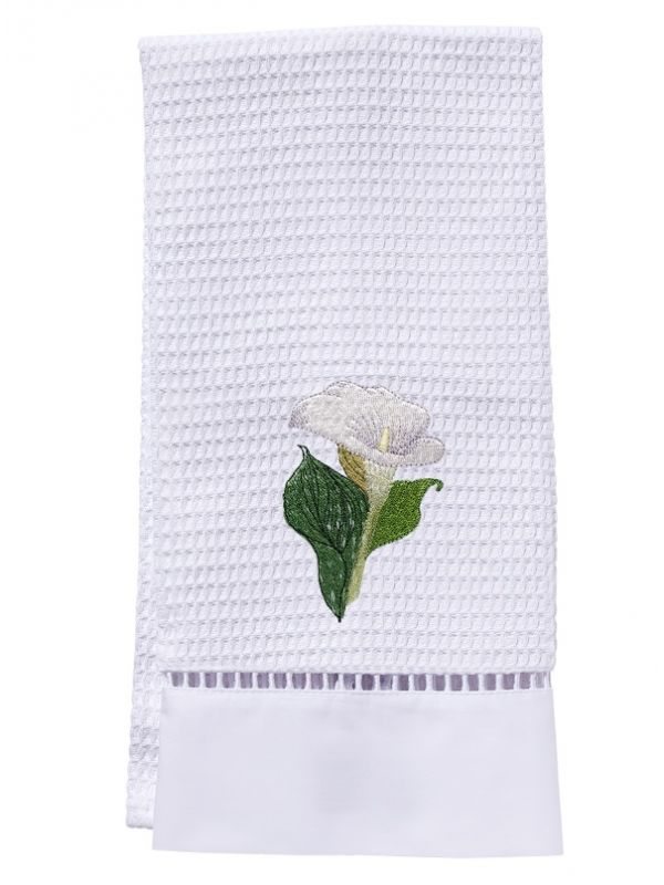 DG02-CALWH Guest Towel, Waffle Weave - Calla Lily (White)