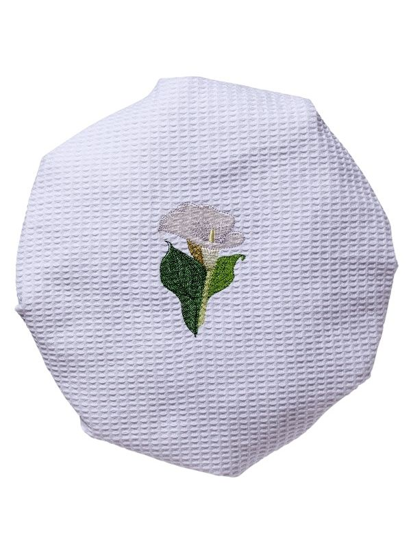DG09-CALWH Shower Cap, Waffle Weave - Cala Lily (White)