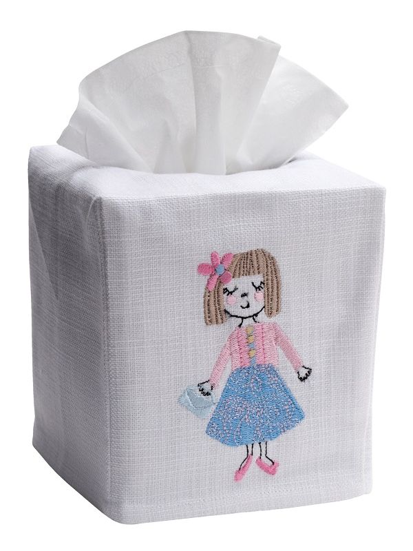 DG17-BEST Tissue Box Cover, Linen Cotton - Besties
