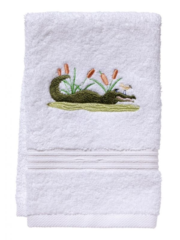 DG70-ALGR Guest Towel, Terry - Alligator (Green)