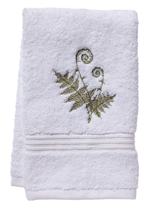 DG70-FFO Guest Towel, Terry - Fiddlewood Fern (Olive)