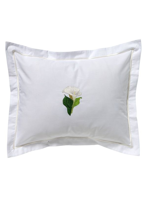 DG78-CALWH Boudoir Pillow Cover - Calla Lily (White)