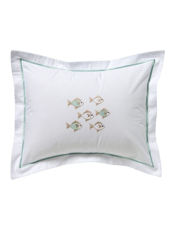 DG78-SOFAQ Boudoir Pillow Cover - School of Fish (Aqua)