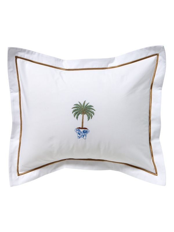 DG78-TPTO Boudoir Pillow Cover - Tropical Palm Tree (Olive)