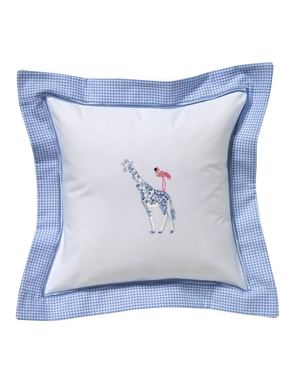 DG136-GFPB Baby Pillow Cover - Giraffe & Flamingo (Pink/Blue)