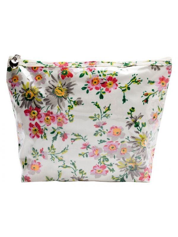 Cosmetic Bag (Medium), Cotton/Waterproof PVC - Spring (Cream) - DN301-SPCR