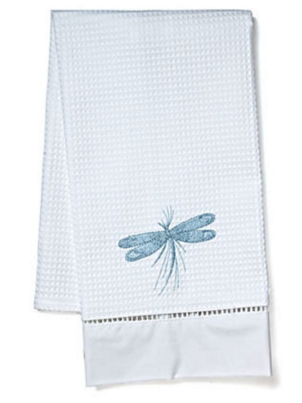 DG02-DFCDE Guest Towel, Waffle Weave - Dragonfly Classic (Duck Egg Blue)