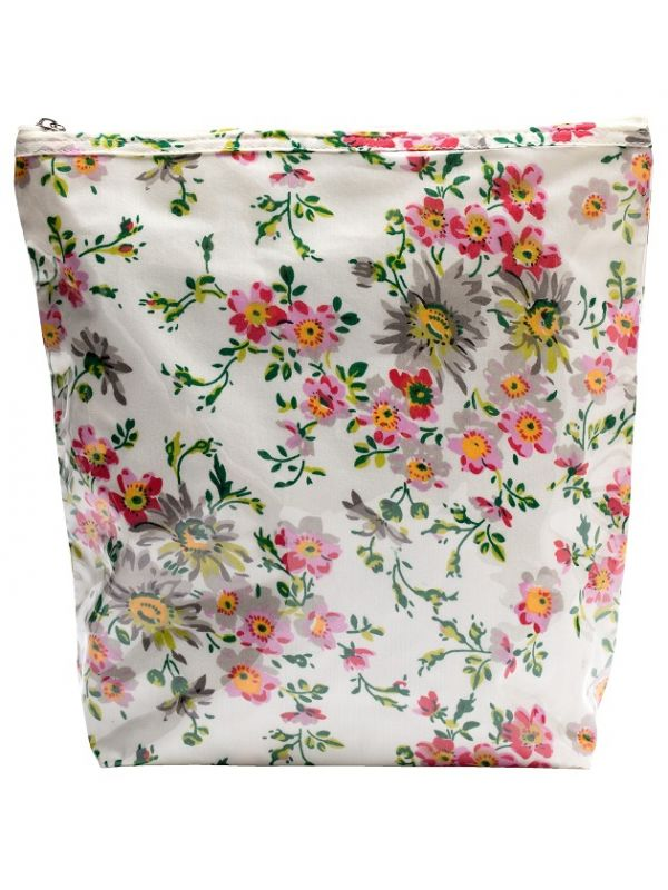 Cosmetic Bag (Large) Cotton/Waterproof PVC - Spring (Cream) - DN302-SPCR