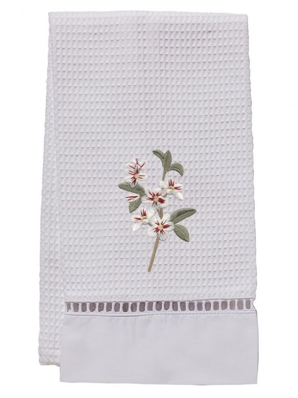 DG02-ABWH** Guest Towel, Waffle Weave - Apple Blossom (White)